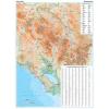 Montenegró domborzati falitérkép - GiziMap