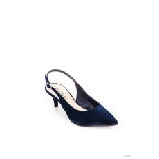 Montonelli Prémium Valódi Bőr női kék magassarkú cipő 37 /kac