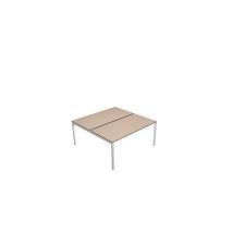 MOON U egyesített irodai asztal, 140 x 164 x 74 cm, fehér/fehér irodabútor