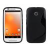 Motorola Moto G2 (XT1063), TPU Szilikon tok, S-Line, fekete