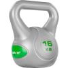 MOVIT Kettlebell súlyzó 16 kg MOVIT - szürke