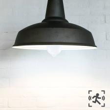 Mozgásérzékelős LED izzó E27 foglalattal, 12 W, hidegfehér világítás