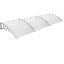 Műanyag előtető 90*300 cm, fehér kerti bútor