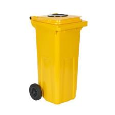 Műanyag kültéri konténer szelektív hulladékgyűjtésre nyílással, űrtartalom 120 l, Kapacitás: 120 L, Kupak színe: Zöld, Test színe: Zöld, Típus: kibill szemetes