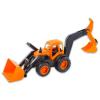 Műanyag traktor tolólappal, markolóval 45 cm - több színben