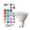 Müller Licht MÜLLER LICHT 400352 LED fényforrás, GU10 5W RGB