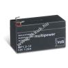 Multipower Ólom akku 12V 1,2Ah (Multipower) típus MP1,2-12 - VDS-minősítéssel