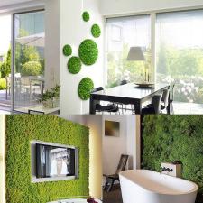 Műmoha világos zöld fa és növény