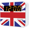 Muse M-165 UK rádiós óra, Dual Alarm, LED, Fehér/Színes (M-165 UK)