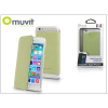 Muvit Apple iPhone 6/6S flipes tok - Muvit Crystal Folio - lime