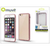 Muvit Apple iPhone 6/6S hátlap - Muvit Frame TPU - clear/pink