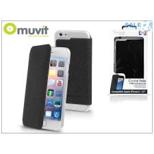 Muvit Apple iPhone 6 Plus/6S Plus hátlap - Muvit Crystal Folio - black tok és táska
