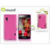 Muvit LG E460 Optimus L5 II hátlap - Muvit miniGel - pink