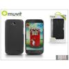 Muvit LG L90 D405 hátlap - Muvit miniGel - smoke black