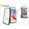 Muvit Samsung SM-G920 Galaxy S6 hátlap - Muvit MyFrame - black/transparent