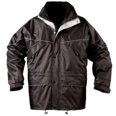 MV fekete 3/1 ISA II kabát (MÉRETEK: S-XXXL)