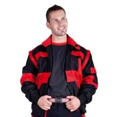 MV fekete/piros MAX munkakabát 44-68 méretek