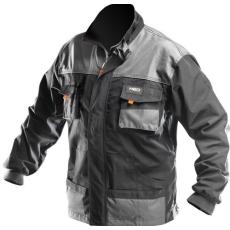MV fekete/szürke NEO kabát 81-210 48-58 méretek vékony fényvisszaverő csíkok