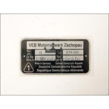 MZ/ETS TÍPUSTÁBLA /ETS250/ MZ/ETS - 250 egyéb motorkerékpár alkatrész