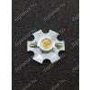 N/A 1W Power LED 6000K hűtőcsillagra szerelve 130 Lumen hideg fehér 2 év garancia