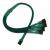 Nanoxia 3-Pin Molex - 4 x 3-Pin adapter - 30 cm - zöld