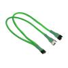 Nanoxia 4-Pin PWM Y-Kábel - 30 cm - neon zöld