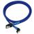 Nanoxia SATA-III-Kábel 30cm - Kék