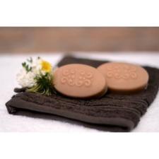 Napvirág Natúrkozmetikum Manufaktúra Napvirág Natúr szappan - Napvirág Lady szappan, természetes tejsavóval és sárgabarackmag olajjal 50g szappan