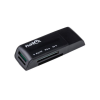 Natec Card Reader MINI ANT 3 SDHC  MMC  M2  Micro SD  USB 2.0 Black