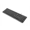 Natec Keyboard TROUT SLIM; USB; US layout; black