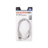 Natec USB 2.0 AM- AF hosszabbító, 0.75M kábel, szürke, bliszter