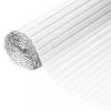 NATURE fehér kétoldalú PVC kerti paraván 1 x 3 m