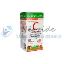 NATURLAND C-VITAMIN 50MG NARANCS ÍZŰ RÁGÓTABLETTA GYEREKEKNEK 100DB vitamin