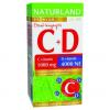 Naturland Naturland 1000mg c-vitamin+4000ne d-vitamin tabletta 40 db