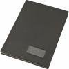 Nebuló Aláírókönyv, A4, 20 részes, karton, műbőr hatású borító, VICTORIA, fekete