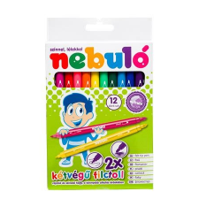 Nebulo Filctoll készlet, kétvégű, 12 darabos, NEBULÓ filctoll, marker