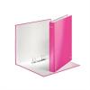 """Nebuló """"Gyűrűs könyv, 2 gyűrű, D alakú, 40 mm, A4 Maxi, karton, lakkfényű, LEITZ """"""""Wow"""""""", rózsaszín"""""""