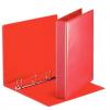 Nebuló Gyűrűs könyv, panorámás, 4 gyűrű, D alakú, 50 mm, A4, PP, ESSELTE, piros