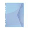 Nebuló Irattartó tasak, A4, PP, patentos, lefűzhető, DONAU, kék