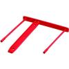 Nebuló Lefűzőklip, műanyag, piros, 85 mm, FELLOWES - 100db/csomag