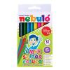 Nebulo Színes ceruza készlet, háromszögletű,  jumbo, NEBULÓ, 12 különböző szín