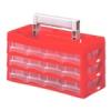 NEMMEGADOTT Hobby-box műanyag 12/165 12 fiókos piros
