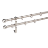 NEMMEGADOTT rúdkarnis fém dupla matt nikkel D=16 mm 160 cm (tartozékokkal)