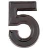 NEMMEGADOTT SB kerámia házszám 5 barna 12cm
