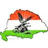 Nemzeti színű turulos hűtőmágnes Nagy-Magyarország körvonallal 14x8,5 cm