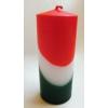 Nemzeti színű tuskógyertya 12 cm