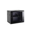 """Netrack 15U 19"""" fali rack szekrény 600x450mm levehető oldalú fekete (019-150-645-022)"""