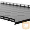 Netrack equipment shelf 19'', 1U/700mm,black FOR STANDING SERVER CABINETS 22-42U