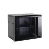 Netrack wall/hanging cabinet 19'';15U/450 mm;glass door;black;remov. side pan.