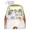 NEW BABY 2-részes ágyneműhuzat New Baby 100/135 cm zöld szafari | Zöld | 100/135 cm